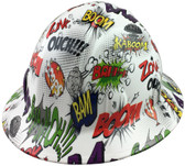 Bam Style Full Brim Hydro Dipped Hard Hats - Oblique View
