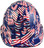 USA Flag Cap Style Hydro Dipped Hard Hats - Front View