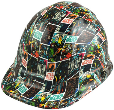 Star Wars Style Hydro Dipped Hard Hats - Oblique View
