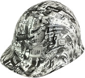 Social Media Style Hydro Dipped Hard Hats - Oblique View