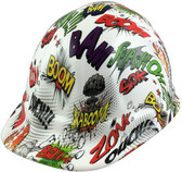 Zoom Bam Boom Style Hydro Dipped Hard Hats - Oblique View