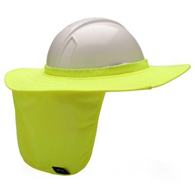 Pyramex Hard Hat Brim with Neck Shade - Hi-Viz Yellow (HPSHADE30)