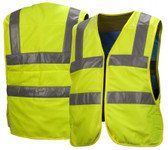 Pyramex Cooling Vest Series - Class 2 Hi-Vis Lime Safety Vests w/ Silver Stripes (CV200)