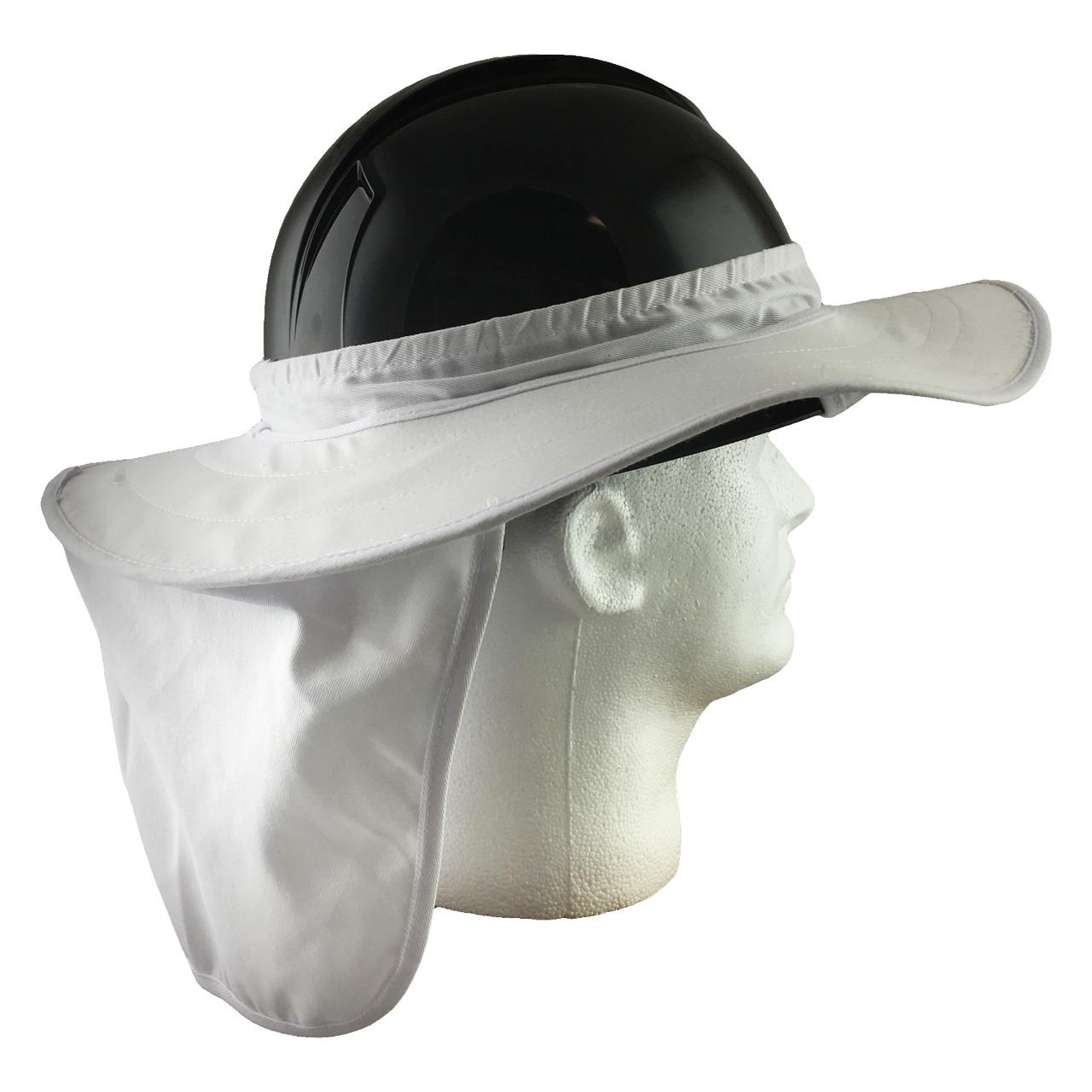 6aab692e8 Pyramex Hard Hat Brim with Neck Shade - White