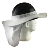 Pyramex Hard Hat Brim with Neck Shade - White (HPSHADE10)