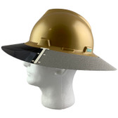 MSA Full Brim V-Guard Hard Hat with Sun Shield - Gold