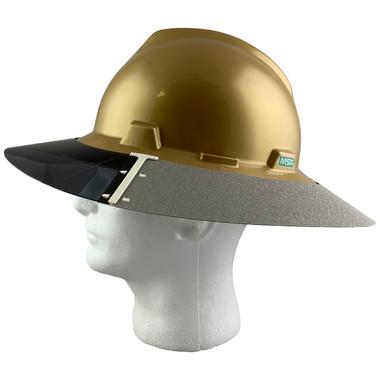 MSA Full Brim V-Guard Hard Hat with Sun Shield - Gold