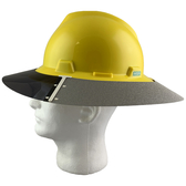 MSA Full Brim V-Guard Hard Hat with Sun Shield - Yellow