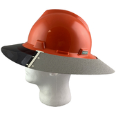 MSA Full Brim V-Guard Hard Hat with Sun Shield - Orange