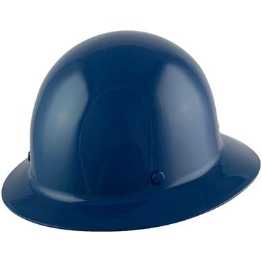 MSA Skullgard Full Brim Hard Hat with FasTrac III Ratchet Suspension - Dark Blue