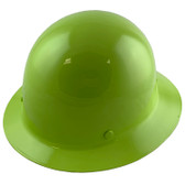 MSA Skullgard Full Brim Hard Hat with FasTrac III Ratchet Suspension - Lime