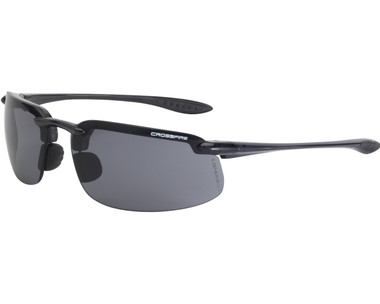Radians Crossfire Safety Glasses with Smoke Lens