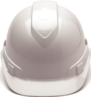 Pyramex Vented Cap Style Hard Hat Shiny White Pattern
