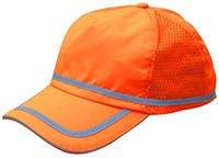 ERB Soft Bump Cap (Cap and Insert) - Hi Viz Orange - Oblique View
