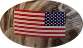 USA Flag Hard Hat Sticker Standard (Stars to Right)