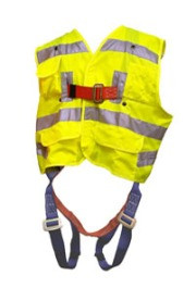 Ell River 3 D-Ring Universal Lime Hi Viz Harness Pic1
