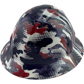 American Digital Camo Style Full Brim Hydro Dipped Hard Hats - Oblique View