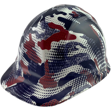 American Digital Camo Style Cap Style Hydro Dipped Hard Hats - Oblique View