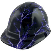 Lightning Storm Style Cap Style Hydro Dipped Hard Hats - Oblique View