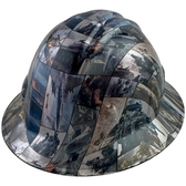 Video Games Design Full Brim Hydro Dipped Hard Hats - Oblique View