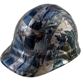 Video Games Style Cap Style Hydro Dipped Hard Hats - Oblique View