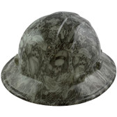 GLOW IN THE DARK Skeleton Sailors Style Full Brim Hydro Dipped Hard Hats - Oblique View