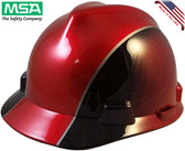 MSA Rally Cap V-Gard Hard Hats with One Touch Suspension - Oblique View
