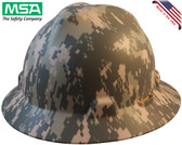 MSA FULL BRIM ACU Design Camoflauge Hard Hats - Staz On Suspension - Oblique View