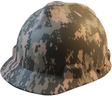 MSA USA Freedom Series ACU Camouflage Hard Hats - Staz On Suspension - Oblique View