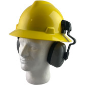 MSA Full Brim V-Guard Hard Hat with Earmuff Attachment - Yellow