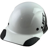 Actual Carbon Fiber Hard Hat - Cap Style Black and White - Oblique View