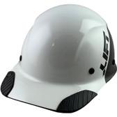 Actual Carbon Fiber Hard Hat - Cap Style Black and White - Oblique View