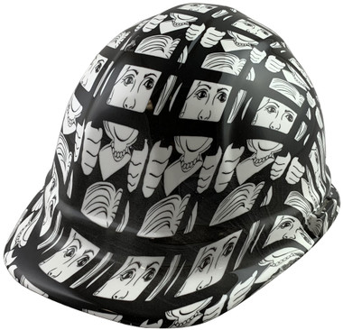 Lock Her Up Cap Style Hydro Dipped Hard Hats - Oblique View