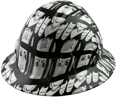 Lock Her Up Design Full Brim Hydro Dipped Hard Hats - Oblique View