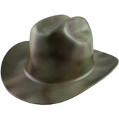 Outlaw Cowboy Hardhat with Ratchet Suspension Textured Camo - Oblique View
