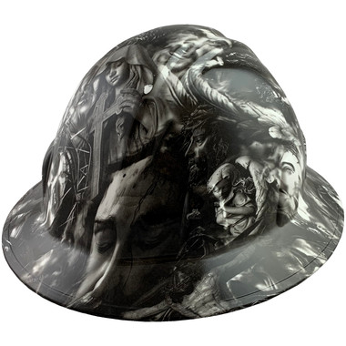 Savior Design Full Brim Hydro Dipped Hard Hats - Oblique View