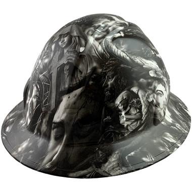 Savior Design Full Brim Hydro Dipped Hard Hats - Oblique View