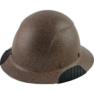 Actual Carbon Fiber Hard Hat - Full Brim Textured Granite  - Oblique View