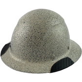 Actual Carbon Fiber Hard Hat - Full Brim Textured Stone - Oblique View
