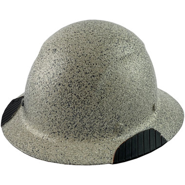 DAX Fiberglass Composite Hard Hat - Full Brim Textured Stone - Oblique View