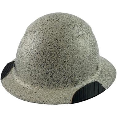 DAX Fiberglass Composite Hard Hat - Full Brim Textured Stone - Oblique View