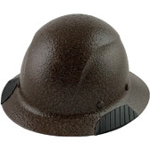 Actual Carbon Fiber Hard Hat - Full Brim Textured Dark Granite  - Oblique View
