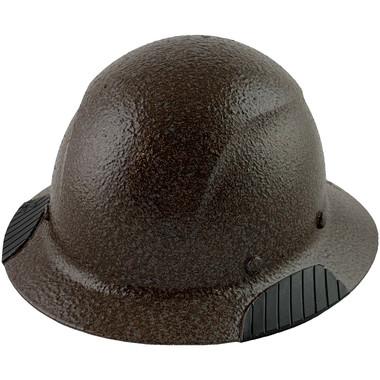 Actual Carbon Fiber Hard Hat - Full Brim Textured Dark Granite  - Oblique View