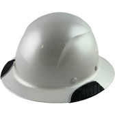 DAX Fiberglass Composite Hard Hat - Full Brim Pearl White - Oblique View