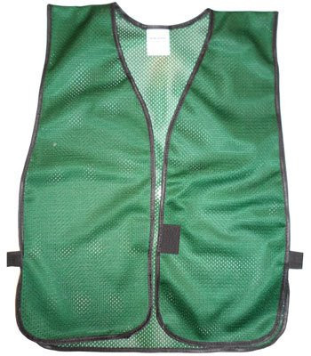 Dark Green Soft Mesh Plain Safety Vest