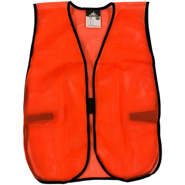 General Purpose Polyester Mesh Safety Vests - Hi Viz Orange