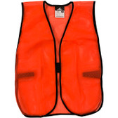 General Purpose Polyester Mesh Safety Vests - Hi Viz Orange