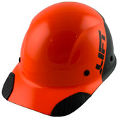 Actual Carbon Fiber Hard Hat - Cap Style Black and Hi Viz Orange - Oblique View