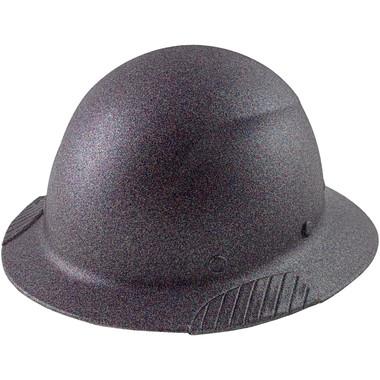 Actual Carbon Fiber Hard Hat - Full Brim Multi-Color Glitter - Oblique View