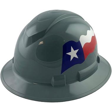 Pyramex Ridgeline Full Brim Hard Hats Gray - Oblique View